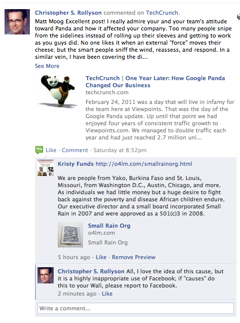 Behind the Scenes with Facebook Pages' New Pre-Moderation Control: detailed example