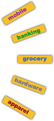 The Future of the Retail Store: mobile banking grocery hardware housewares apparel clothier