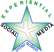 experiential social media logo | Build trust, relationship & business