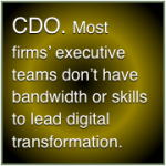 Chief Digital Officers address digital knowledge gaps in executive teams