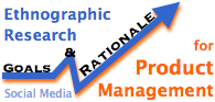 Ethnographic Research for Product Management with social media goals & rationale