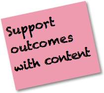 Social Media Strategy Good Practices: Support outcomes with content