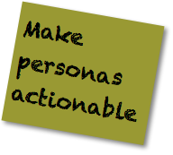 Social Media Strategy Good Practices: Make personals actionable