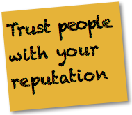 Social Media Strategy Good Practices: Trust people with your reputation