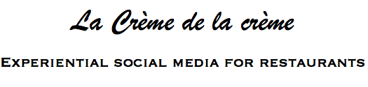 Experiential social media for restaurants, cafés, bars & clubs