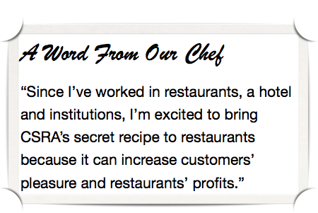 Experiential social media for restaurants bars & cafes: Chef's quote
