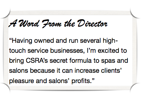 Director's quote: experiential social media for salons spas & fitness #value #proposition
