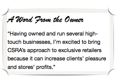 Experiential Social Media for Luxury Retailers: Owner quote