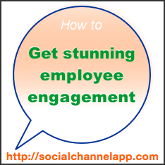 How to Get Stunning #Employee #Engagement: The Social Channel App