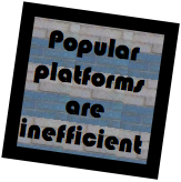 Social Media Strategy Lessons Learned: Popular platforms are inefficient #cx
